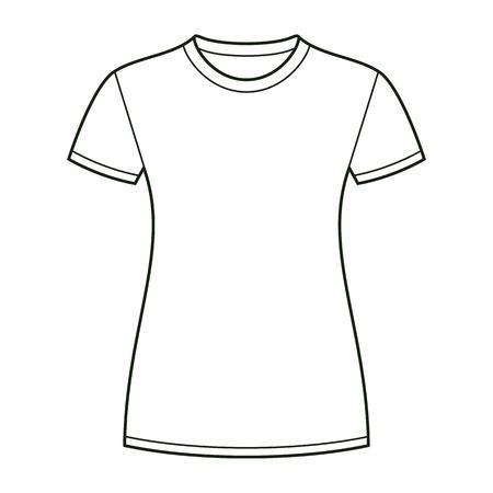 white uniform: White t-shirt design template