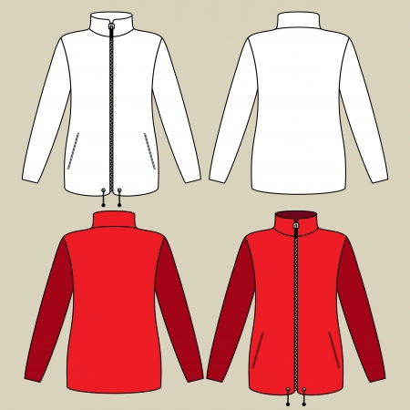 winter jacket: Illustration of a sportswear