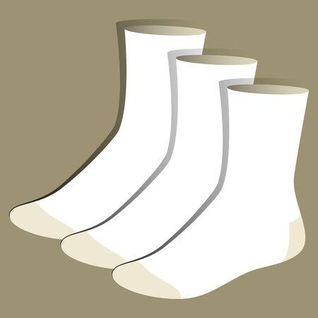 white socks: Socks template