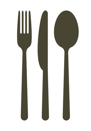 spoon and fork: Cutlery  Illustration