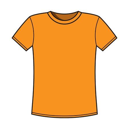 t shirt model: Blank giallo t-shirt modello