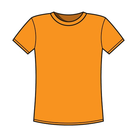 t shirt print: En blanco amarillo t-shirt plantilla