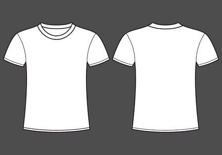 camicia bianca: Blank t-shirt modello anteriore e posteriore Vettoriali