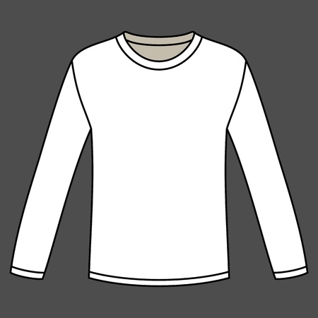 Blank long-sleeved T-shirt template