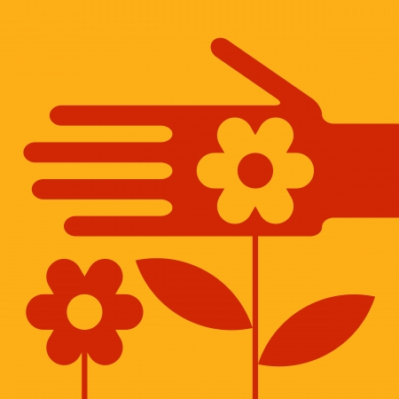 garden maintenance: Garden maintenance Illustration