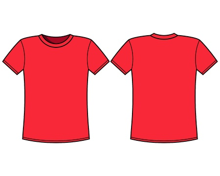 unisex: Blank t-shirt template  Front and back