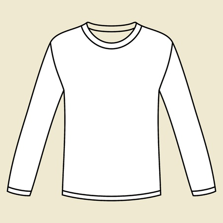 Black long-sleeved T-shirt template Vector