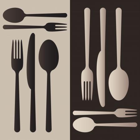 fork spoon knife: Cutlery