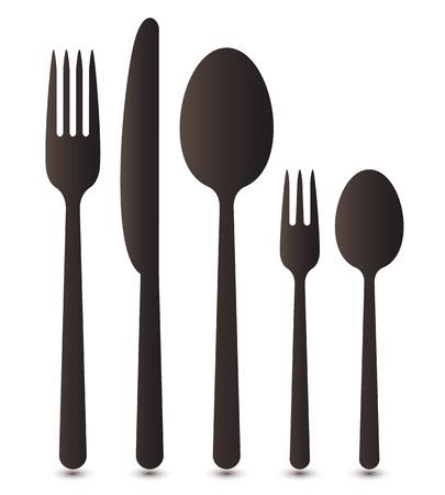 couteau fourchette cuill�re: Coutellerie Illustration