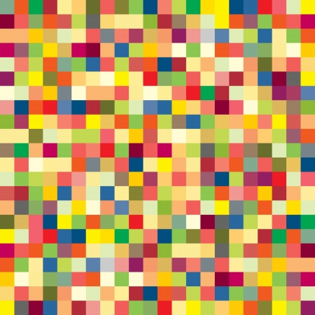 quadrat: Colorful pixel pattern - vector illustration