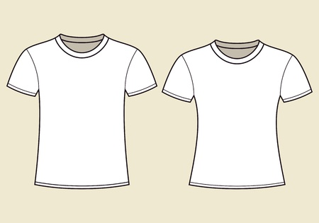 unisex: Blank t-shirts template Illustration