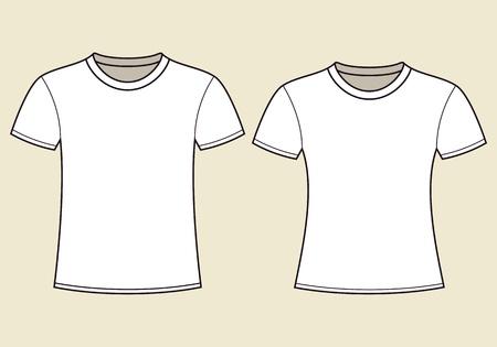 blank shirt: Blank t-shirts template Illustration