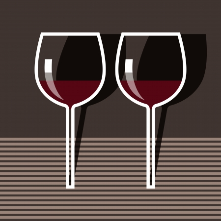 Wineglasses Stock Vector - 14565620