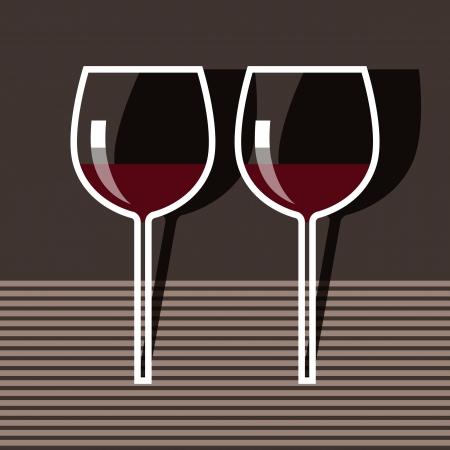 Wineglasses Stock Vector - 14565620
