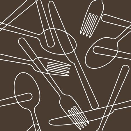 Bestek patroon Vector Illustratie