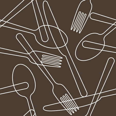 Cutlery pattern Stock Vector - 14607126