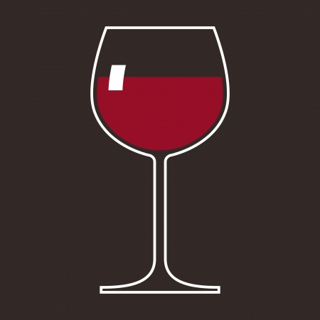 red wine pouring: Wineglass