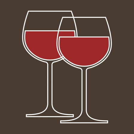 red wine pouring: Wineglasses