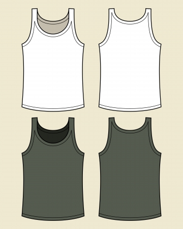 white singlet: Blank singlet template Illustration