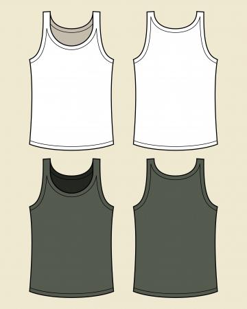 shirt template: Blank singlet template Illustration
