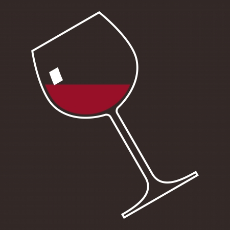 A glass of red wine  Stock Vector - 14742669