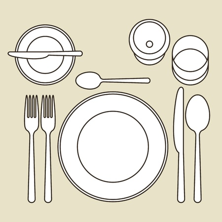 place setting: Place setting Illustration