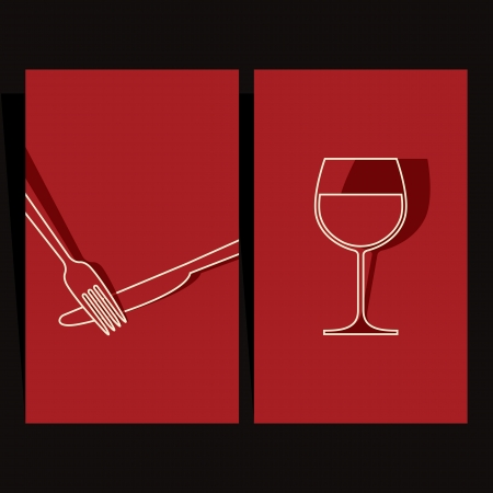 Wine list and menu design  Vector