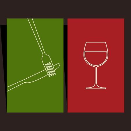 Wine list and menu design Stock Vector - 15124617