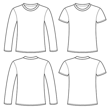 Z długimi rękawami T-shirt i T-shirt szablon