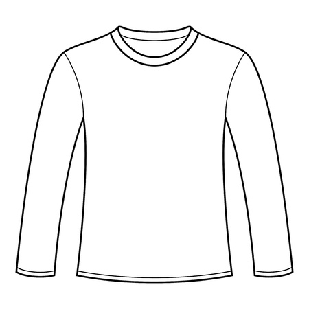 t shirt printing: Long-sleeved T-shirt template Illustration