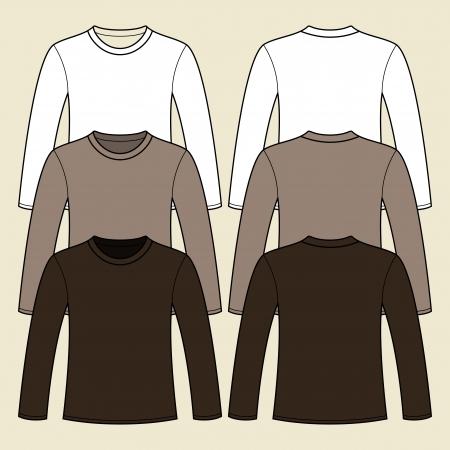 Long-sleeved T-shirt template Stock Vector - 15286792