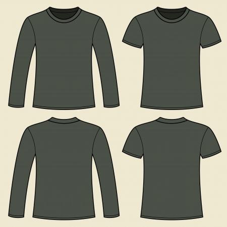 shirt template: Long-sleeved T-shirt and T-shirt template
