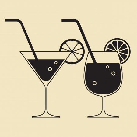 Cocktail glasses Illustration