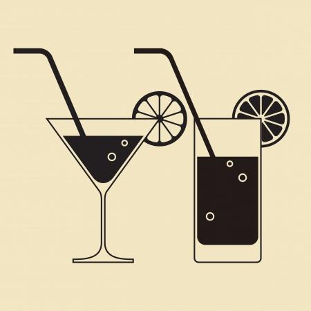 coctail: Cocktail glasses Illustration