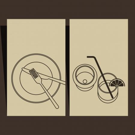 gourmet meal: Menu design  Illustration