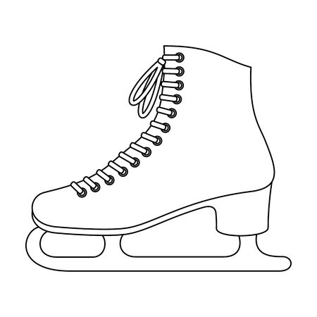 ice skating: Patins � glace Illustration