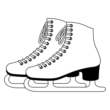 skate: Ice skates Illustration