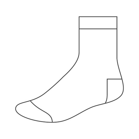 Sock template Stock Vector - 15758885