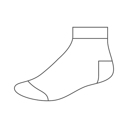 hosiery: Sock template Illustration