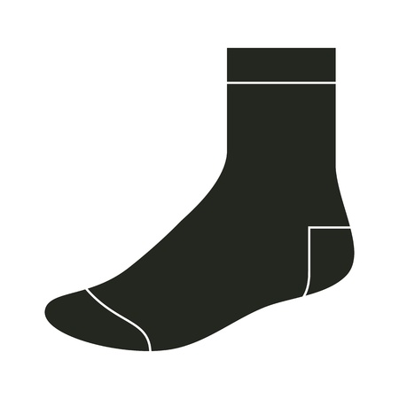 warm clothes: Black sock template