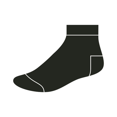 hosiery: Black sock template