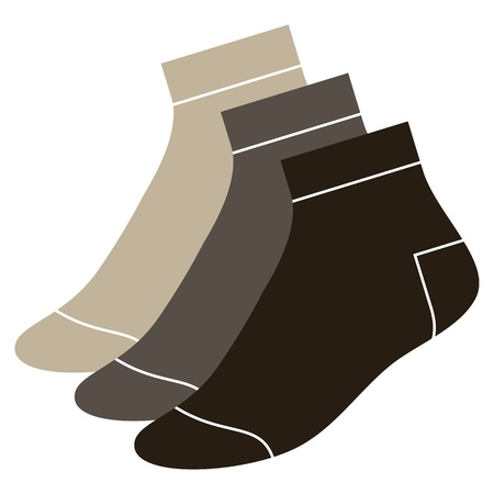 hosiery: Set of socks  Illustration