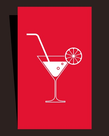Cocktail menu  Card design Vector
