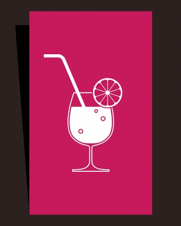 Cocktails menu Card design Vector