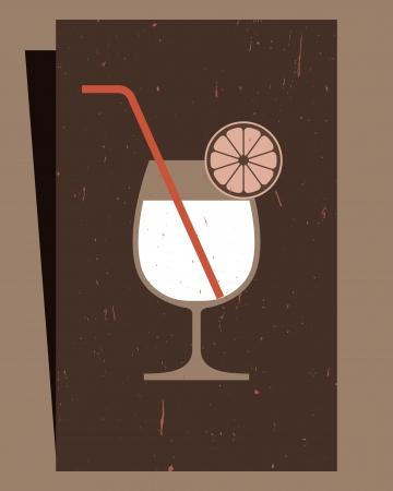 cocktail cold: Cocktails Menu Card Design