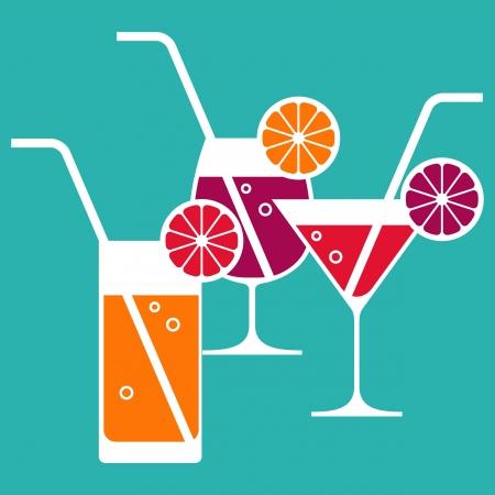 Illustratie van cocktailglazen Vector Illustratie