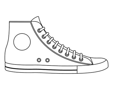 shoelace: Illustration of sneaker