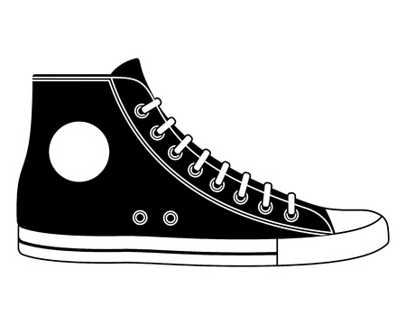 walking shoes: Illustration of sneaker