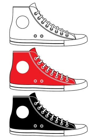 walking shoes: Illustration of sneakers