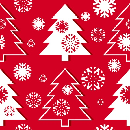 Christmas tree pattern Stock Vector - 16430469